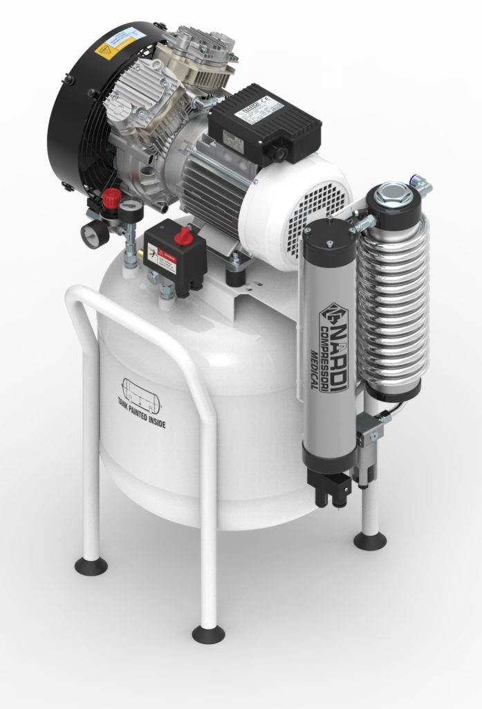 Dental air compressor 50L